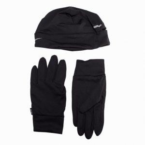 Nike Run Beanie/Glove PK Treenisetti Musta