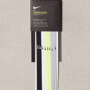 Nike Skinny Hairbands 8 P Hiuslenkki Musta/Valkoinen