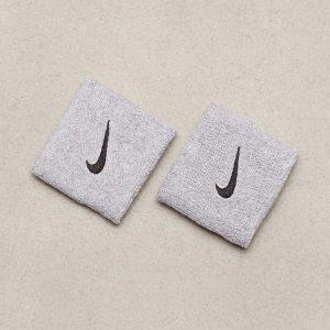 Nike Swoosh Wristband Hikinauha Harmaa